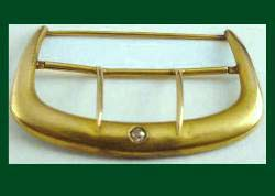 Victorian Gold Buckle Sash Pin with Diamond