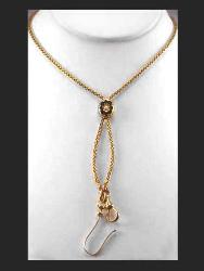 "Victorian 14K 62"" Chain with Slide"
