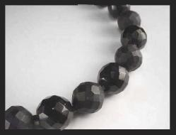Hobé Black Faceted Bead Necklace