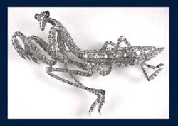 Boucher Praying Mantis Pin