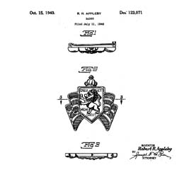 Accessocraft War Relief Pin Patent