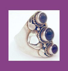 Sterling and Amethyst Ring