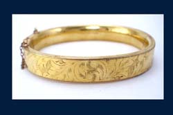 Bates and Bacon 1905 Golden Etched Bracelet Front