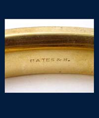 Bates and Bacon 1905 Golden Etched Bracelet Signature