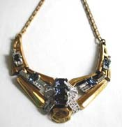 Sapphire Blue Rhinestone Barclay Necklace