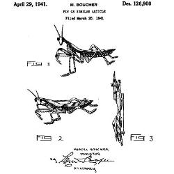 Boucher Praying Mantis Design Patent
