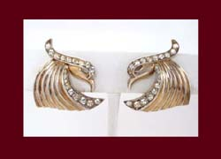 Boucher Sterling Vermeil Bird Earrings