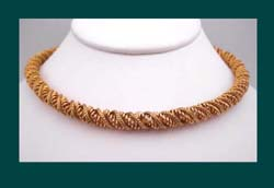 Gold Toned Choker Necklace by Boucher