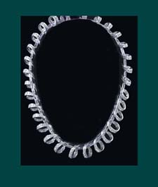 Boucher Continuous Loops of Rhinestones Necklace