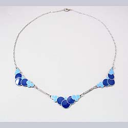 Enamel and Sterling Bubbles Necklace