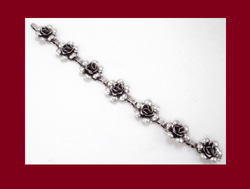 Early Danecraft Sterling Rose Bracelet