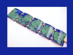 Kaye Denning Blue and Green Enamel Bracelet