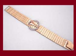 Dorsons Gold Filled Rhinestone Bracelet Full View