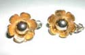 McClelland Barclay Sterling Floral Earrings