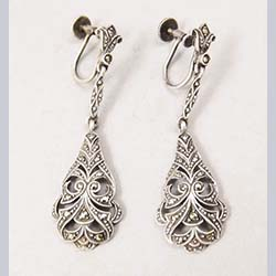 Germany Sterling Marcasite Earrings