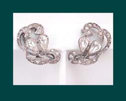Sterling Germany Rhinestone Earrings