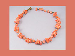 Miriam Haskell Faux Coral Necklace