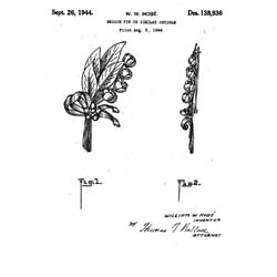 Hobe Sterling Vermeil Flower Pin Patent
