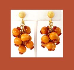 Hobe Wooden Beaded Earrings