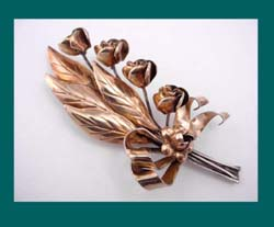 Hobe Sterling Vermeil Flower Pin