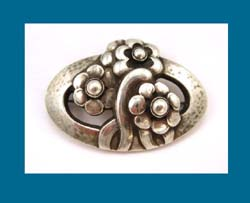 Georg Jensen Sterling Flower Pin