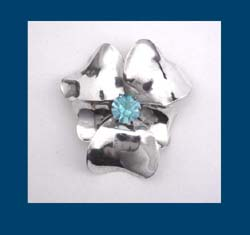 Sterling by Jordan Pansy Flower Pin