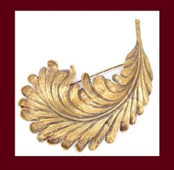 Joseff of Hollywood Large Feather Pin