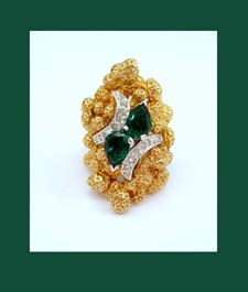 Panetta Emerald Green Rhinestone Ring