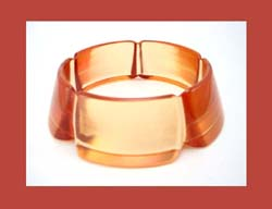 Peach Juice Bakelite Bracelet :  bangle jewelry prystal bakelite peach juice