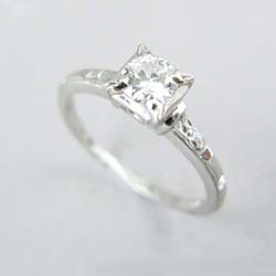 Platinum Orange Blossom Diamond Ring