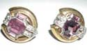 Amethyst Rhinestone Earrings by McClelland Barclay