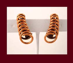 Renoir Copper Spiral Earrings