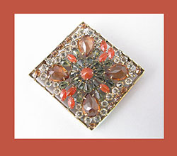 Schreiner Colorful Rhinestone Pin