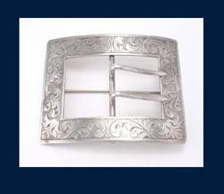 Sterling Buckle Sash Pin