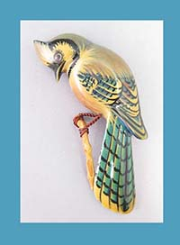 Takahashi Blue Jay Bird Pin