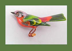 Takahashi Painted Bunting Bird Pin