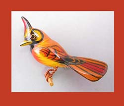 Takahashi Female Cardinal Bird Pin