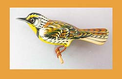 Takahashi Meadowlark Bird Pin