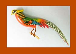 Takahashi Golden Pheasant Bird Pin