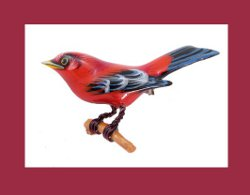 Takahashi Male Scarlet Tanager Pin