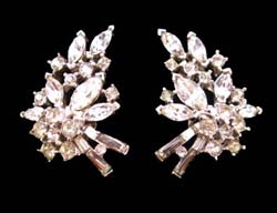 Trifari Dazzling Rhinestone Earrings