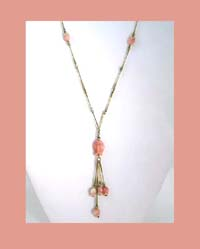 Glass Tulip Bead Necklace