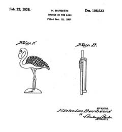 Uncas Flamingo Pin Design Patent