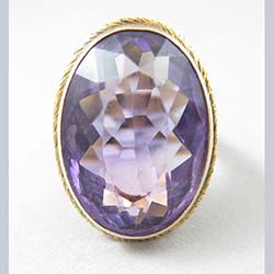 Victorian Amethyst 10k Gold Ring Front